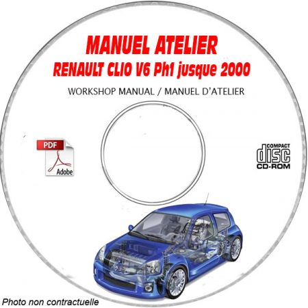 RENAULT CLIO V6 Phase 1 jusque 2000 TYPE CB1A Manuel Atelier sur CD-ROM