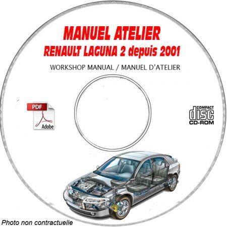 LAGUNA 2 01- Manuel Atelier CDROM RENAULT FR