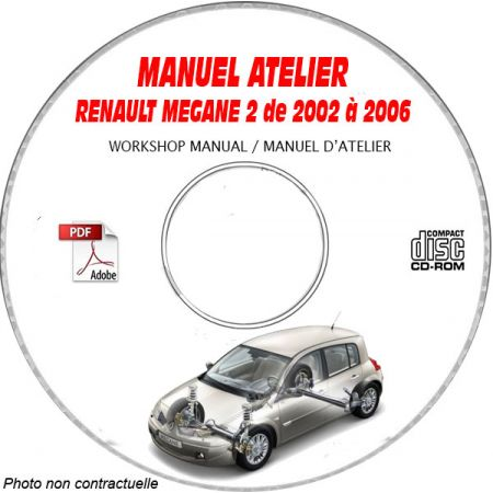 RENAULT MEGANE II de 2002 à 2006 Type : XM0..... Manuel Atelier sur CD-ROM