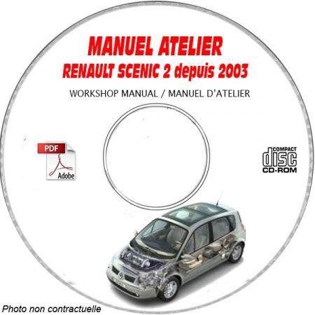 RENAULT SCENIC II depuis 2003 Type XM0 Manuel Atelier sur CD-ROM FR