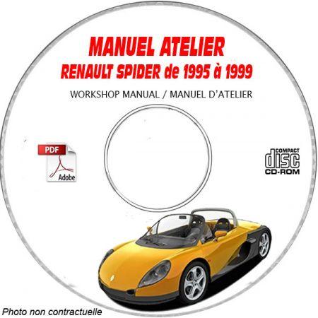 RENAULT SPIDER de 1995 à 1999 Type DEO T Manuel d'Atelier sur CD-ROM FR