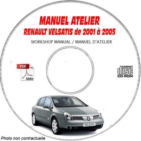 RENAULT VELSATIS de 2001 à 2005 Type BJ0 Manuel Atelier sur CD-ROM FR