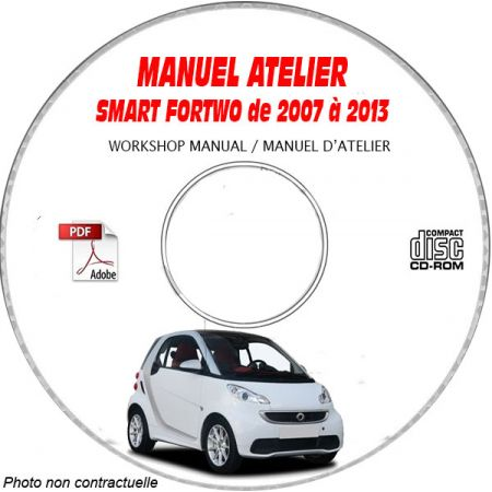 SMART FORTWO de 2007 à 2013 Type 451 Manuel Atelier sur CD-ROM