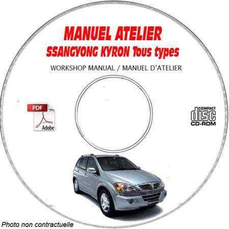 SSANGYONG KYRON Tous types Type : KPTS01A......... Manuel d'Atelier sur CD-ROM Anglais