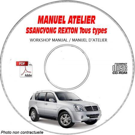 SSANGYONG REXTON Tous types Type : KPTP01A......... Manuel d'Atelier sur CD-ROM Anglais