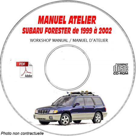 SUBARU FORESTER de 1999 à 2002 Type : JF1SF... Manuel d'Atelier sur CD-ROM Anglais
