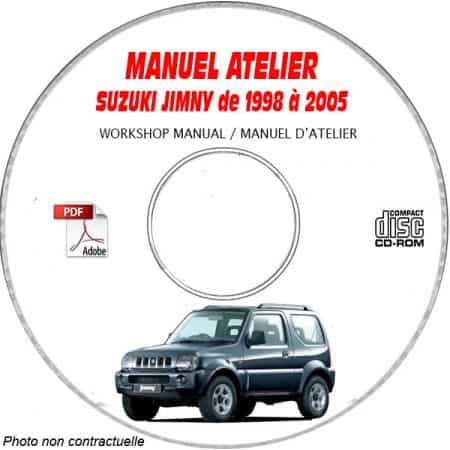 SUZUKI JIMNY de 1998 à 2005 Type : SN413 Manuel Atelier sur CD-ROM anglais