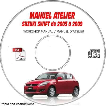 SUZUKI SWIFT de 2005 à 2009 Type : RS415 JSAEZC... Manuel Atelier sur CD-ROM anglais