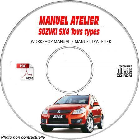 SUZUKI SX4 Type : RW415 + RW416 Manuel Atelier sur CD-ROM FR