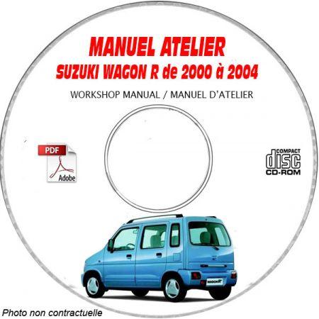 SUZUKI WAGON-R de 2000 a 2004 Type : RB310 + RB413 + RB413D Manuel Atelier sur CD-ROM Anglais
