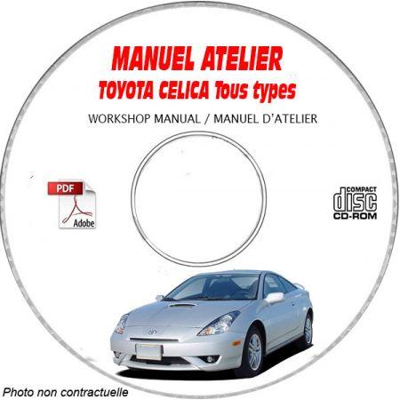 TOYOTA CELICA Type : ZZT 230 + ZZT 231 Manuel d'Atelier sur CD-ROM Anglais