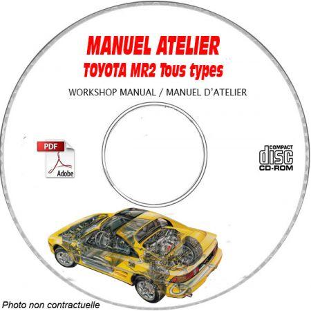 TOYOTA MR2 tous types Type : SW20 + SW22 Manuel d'Atelier sur CD-ROM Anglais