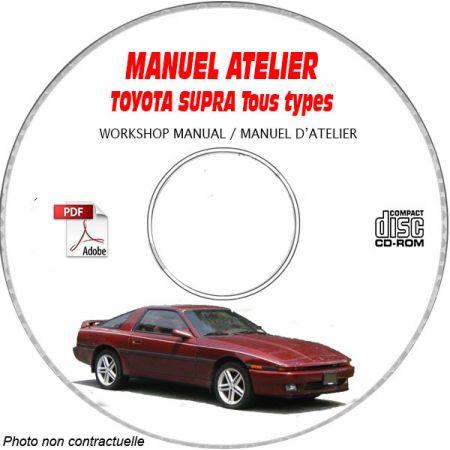 TOYOTA SUPRA MK3 Manuel d'Atelier sur CD-ROM anglais