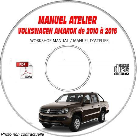 VW VOLKSWAGEN AMAROK de 2010 à 2016 Type: 2H Manuel d'Atelier sur CD-ROM anglais