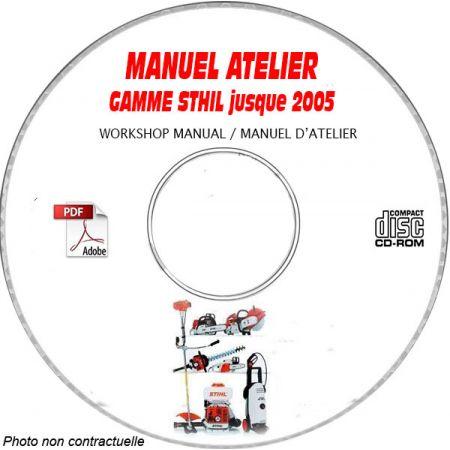 GAMME SAV STHIL et VIKING jusqu'a fin 2005 Manuel d'Atelier sur CD-ROM Anglais