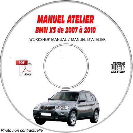 BMW X5 de 2007 à 2010 Type: E70 Phase 1 Manuel d'Atelier sur CD-ROM Anglais