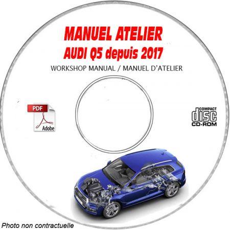 AUDI Q5 depuis 2017 Type : FY Manuel Atelier sur CD-ROM Anglais