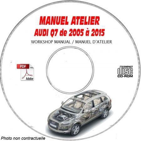 AUDI Q7 de 2005 à 2015 Type : 4L Manuel Atelier sur CD-ROM