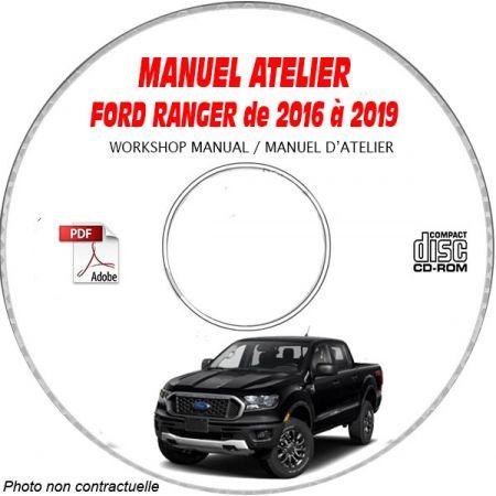 FORD RANGER série 3 de 2016 à 2019 Manuel d'Atelier sur CD-ROM anglais