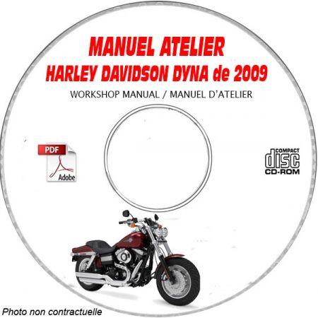 HARLEY-DAVIDSON Dyna de 2009 Type: FXD + FXDL + FXDC + FXDB + FXDSF Manuel d'Atelier sur CD-ROM Anglais