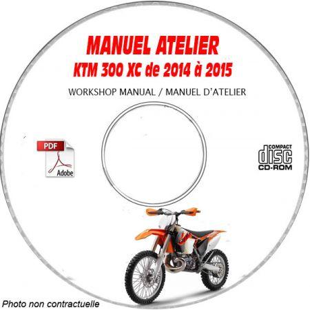 KTM 300 XC de 2014 à 2015 Manuel d'Atelier sur CD-ROM FR