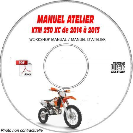 KTM 250 XC de 2014 à 2015 Manuel d'Atelier sur CD-ROM FR