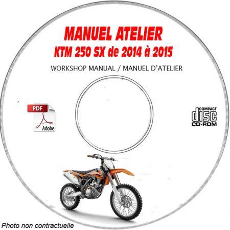 KTM 250 SX de 2014 à 2015 Manuel d'Atelier sur CD-ROM FR