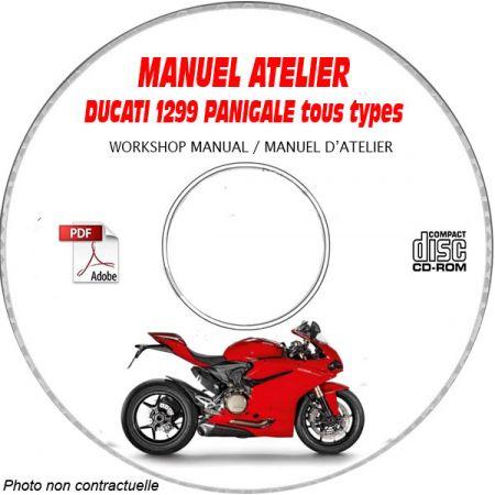 DUCATI 1299S PANIGALE Tous types Type: ZDM H904FA.... Manuel d'Atelier sur CD-ROM anglais