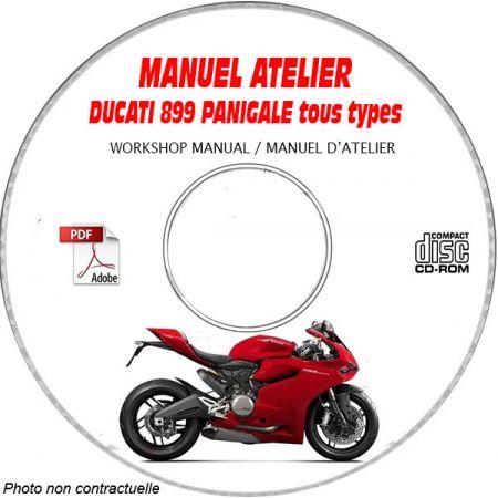 DUCATI 899 PANIGALE Tous types Manuel d'Atelier sur CD-ROM anglais
