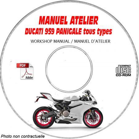 DUCATI 959 PANIGALE Tous types Type: ZDM HB00FA.... Manuel d'Atelier sur CD-ROM anglais