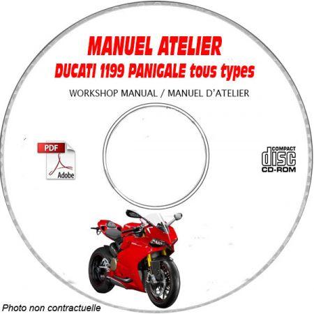 DUCATI 1199S PANIGALE Tous types Type: ZDM H801AA.... Manuel d'Atelier sur CD-ROM anglais