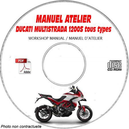 DUCATI MULTISTRADA 1200, 1200S ABS -Ed. 2015 Type: ZDM 12BWW....  Manuel d'Atelier sur CD-ROM anglais