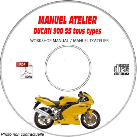 DUCATI 900 SUPER SPORT Tous types 900 SS Type: ZDM U100AA.... Manuel d'Atelier sur CD-ROM FR