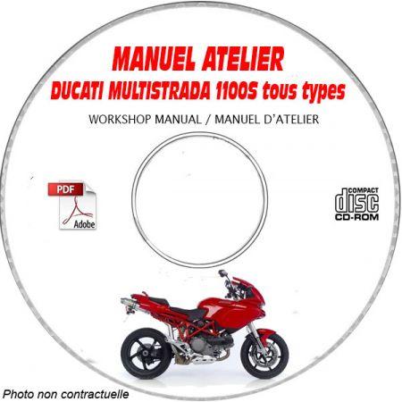 DUCATI MULTISTRADA 1100 S Type: ZDM H500.... Manuel d'Atelier sur CD-ROM FR