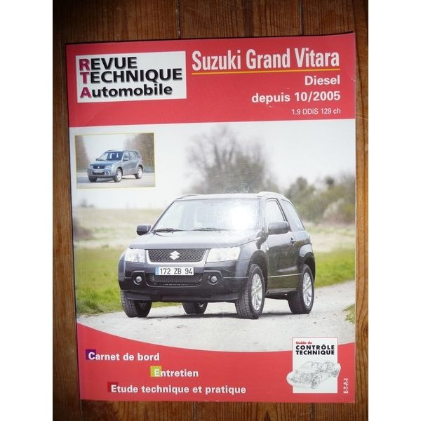 rta revue technique 4x4 suzuki grand vitara 1 9 ddis 129cv. Black Bedroom Furniture Sets. Home Design Ideas