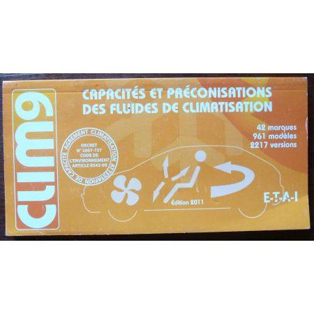 Capacités et préconisation des fluides de climatisation MA-CLIM9 - Manuel ETAI