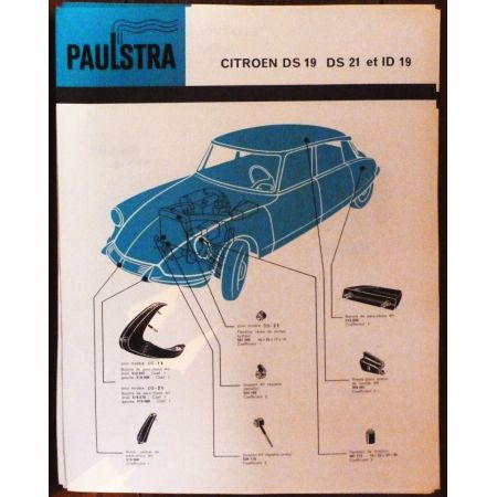 DS19 DS21 ID19 - Fiche Paulstra Citroen