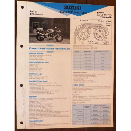 GSX-R 750 96 - Fiche Technique Suzuki