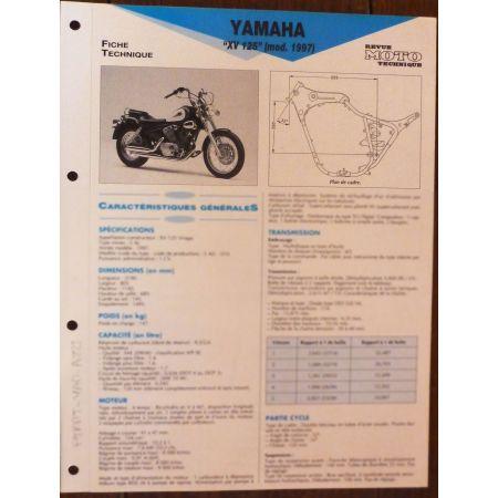 XV125 97 - Fiche Technique Yamaha