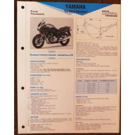 XJ900S 97 - Fiche Technique Yamaha
