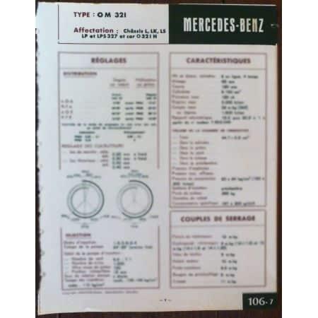OM321 - Fiche Technique Mercedes