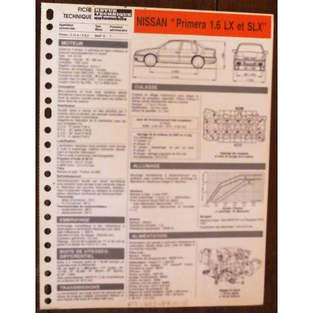 Primera 1.6 - fiche technique Nissan