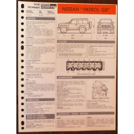 Patrol GR - fiche technique Nissan