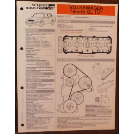 VENTO GL TD - Fiche Technique VW