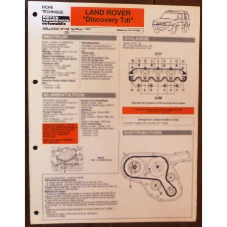 Discovery TDI - fiche technique Rover