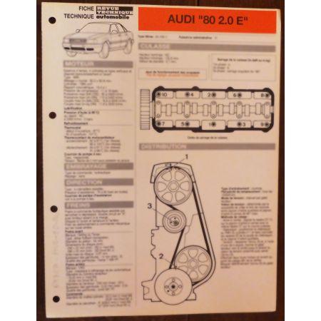 80 2.0E - Fiche Technique AUDI