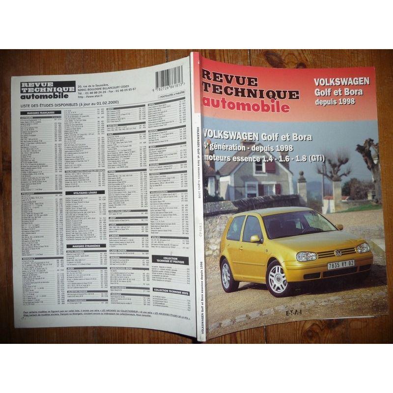 rta revue technique volkswagen golf iv et bora essence gti depuyis 1998. Black Bedroom Furniture Sets. Home Design Ideas