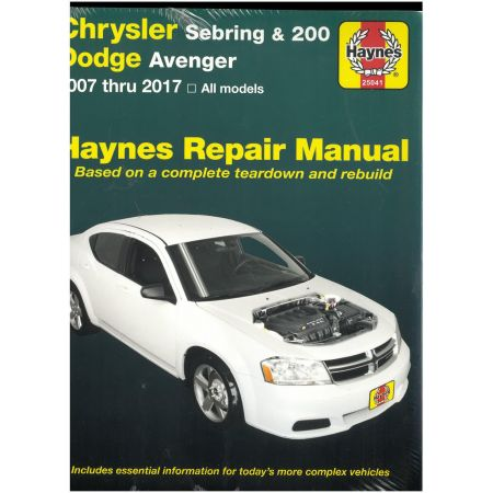 Sebring 200 07-14 Revue technique Haynes CHRYSLER Anglais