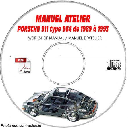 PORSCHE 911 Type 964 depuis 1995 Type : 964 CARRERA 2 et 4 Manuel d'Atelier sur CD-ROM Anglais