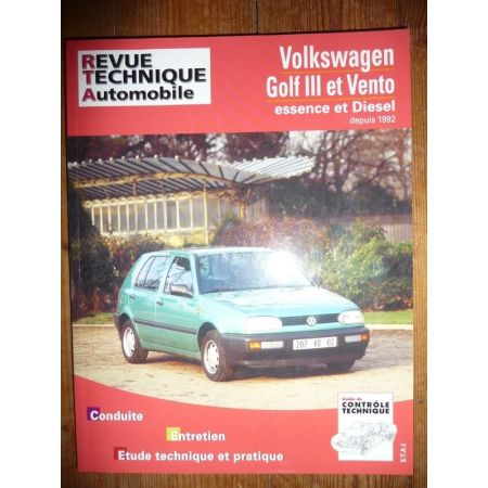 Golf III Vento 92- Revue Technique Volkswagen